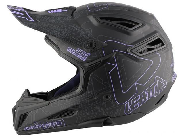 Leatt DBX 5.0 Composite Helmet black/purple